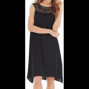 Soma Chiffon Overlay Dress Black Size 8 NWT